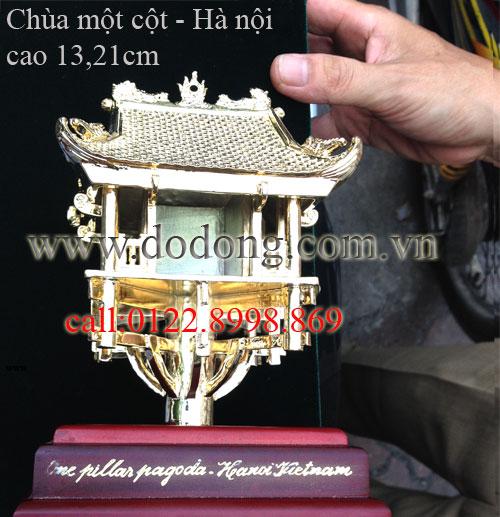tượng đồng nguyên khối chùa một cột cao 13cm, 21cm