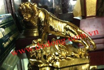 Tượng hổ dát vàng 24k, hổ đồng phong thủy mạ vàng