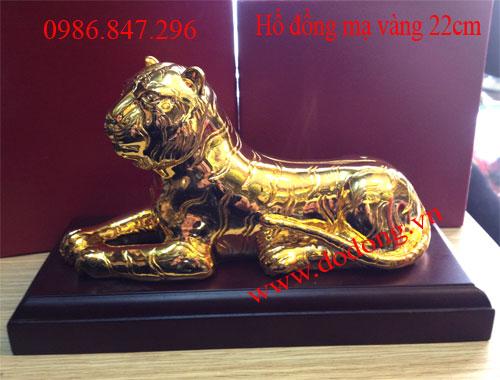 Tượng hổ đồng mạ vàng 24k – Qùa tặng cho người tuổi dần0