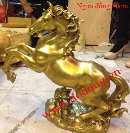 Tượng ngựa đồng cao 40cm