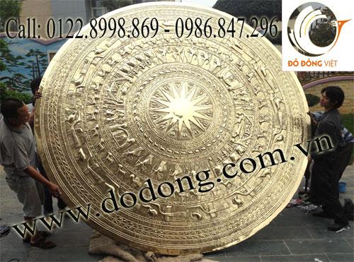 Mặt trống đồng đk 3m trang trí Biệt thự tại Thái Nguyên