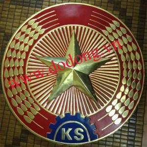Logo kiểm soát bằng đồng gò thủ công – Huy hiệu ngành