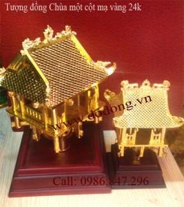Tượng đồng chùa một cột cao 13cm, 21cm mạ vàng 24k