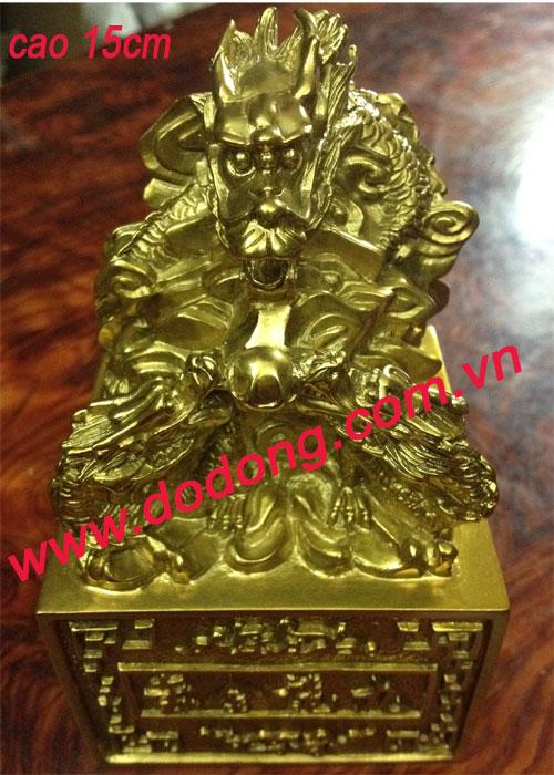 ẤN đồng vàng đúc nguyên khối 15cm,20cm
