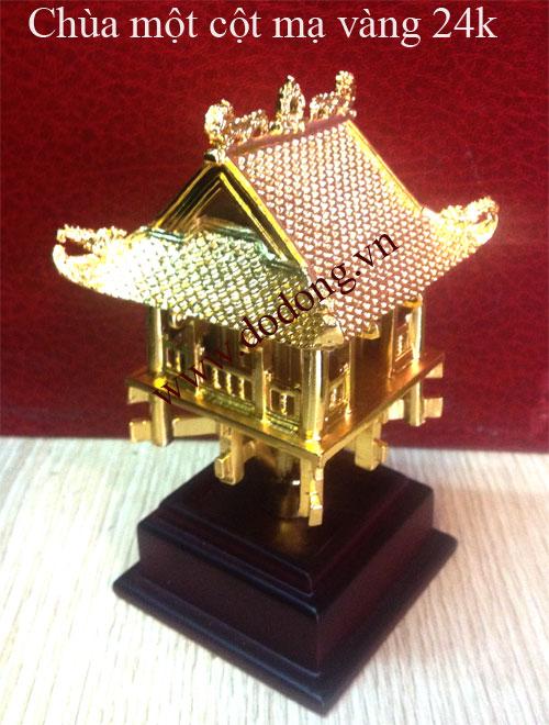 Đúc tượng đồng chùa một cột mạ vàng cao 10cm,13cm,18cm