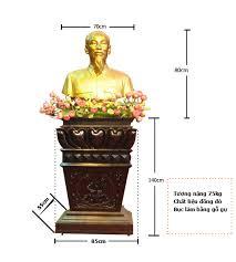 Bộ tượng Bác gồm tượngđoồng,bục gỗ kê tượng cao cấp
