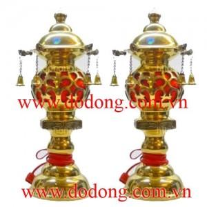 Đôi đèn thờ cắm điện trang trí bàn thờ – đồ thờ công đức