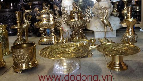 Bán đồ thờ đồng vàng bóng vĩnh tiến 40cm – đỉnh vĩnh tiến0