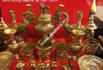 Bộ đồ thờ gia tiên bằng đồng – kinh nghiệm mua đồ thờ