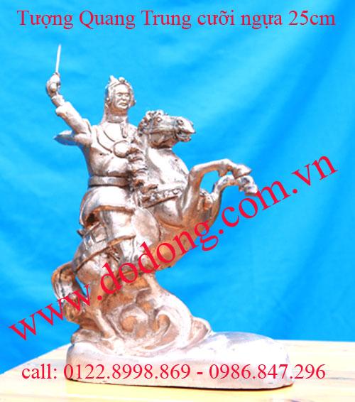 Tượng đồng Quang trung cưỡi ngựa 25cm – tượng vua tây sơn