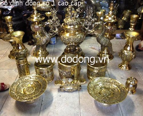 Bộ đồ thờ phù hợp bàn thờ 107x212cm cao 127cm