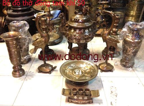 Bộ đồ thờ ngũ sự phù hợp bàn thờ 81x179cm, 88x197cm - bàn thờ gia tiên