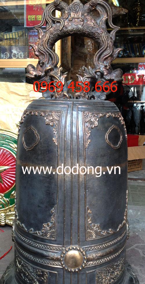 Qủa chuông đồng cao 106cm đk 50cm nặng 100kg đồng đỏ tinh khiết