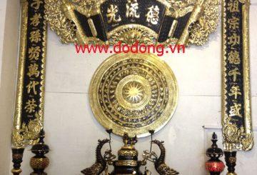 Bộ đồ thờ bằng đồng đại phát sơn tĩnh điện đẹp