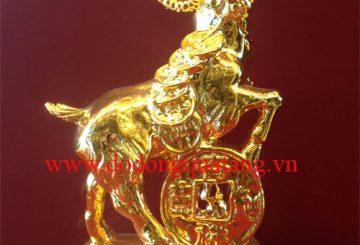 Tượng dê,dê thịnh vượng mạ vàng 24k làm quà tặng