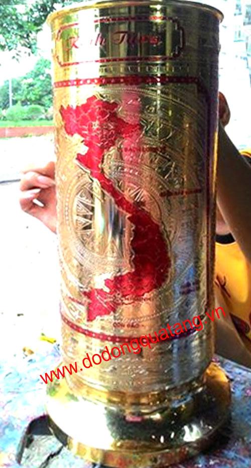 Mặt khắc kình bản đồ chữ S Việt nam và các Quần đảo trường sa,hoàng sa