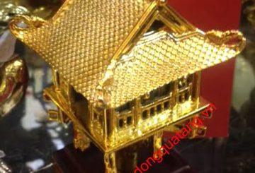 Tượng đồng chùa một cột nhỏ 13cm mạ vàng