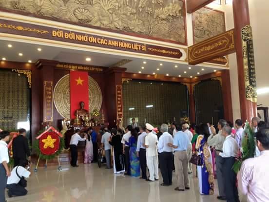 Khánh thành đền thờ liệt sỹ TP Phan thiết