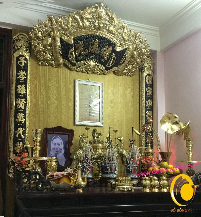mẫu bàn thờ gia tiên đẹp