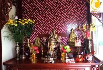 Bộ đồ thờ cúng đồng ngũ sắc cao cấp tại Hà nội
