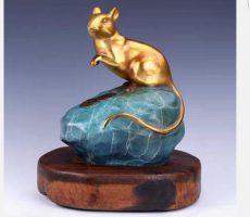 Qùa tặng tết 2020, tượng chuột vàng, chuột quà tặng đẹp