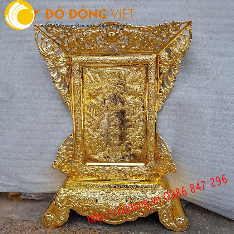 Bài vị bằng đồng,bài vị cửu huyền thất tổ mạ vàng 68x81cm0