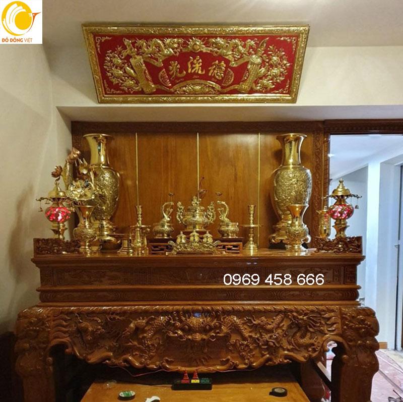 bàn thờ gia tiên và cách bày trí trên bàn thờ0