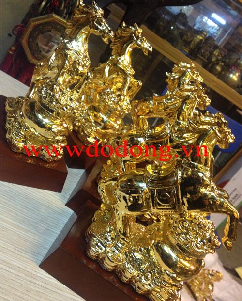 Ngựa hũ tiền vàng 20cm – biểu tượng tiền tài0
