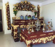 Dát vàng nội thất đồ gỗ, đồ thờ dát vàng uy tín