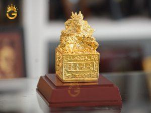 Quà tặng sếp thăng chức- ấn rồng mạ vàng 24k đẹp tinh xảo