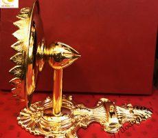 Đèn đồng trang trí mạ vàng 24k bày phòng khách gia đình