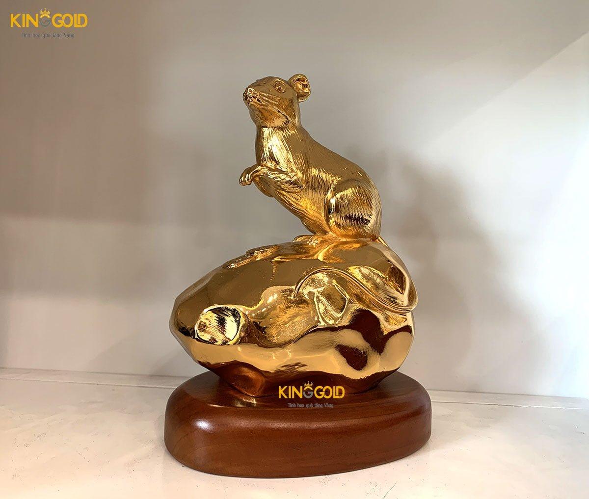 Tượng Chuột Mạ Vàng 24k Cao Cấp Làm Quà Tặng Sếp0