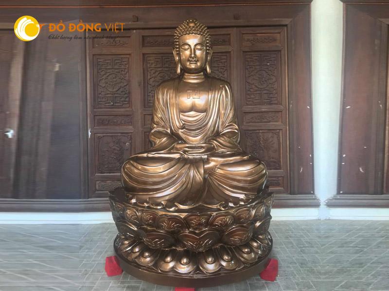 Đúc tượng thích ca 2,5m nặng 2,3 tấn tại Chùa Thiên Long, Tiền Hải0