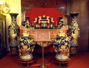 10 bộ đồ thờ gốm dát vàng cao cấp nhất Việt nam