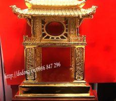 Tượng văn miếu mạ vàng,khuê văn các đúc đồng 40cm