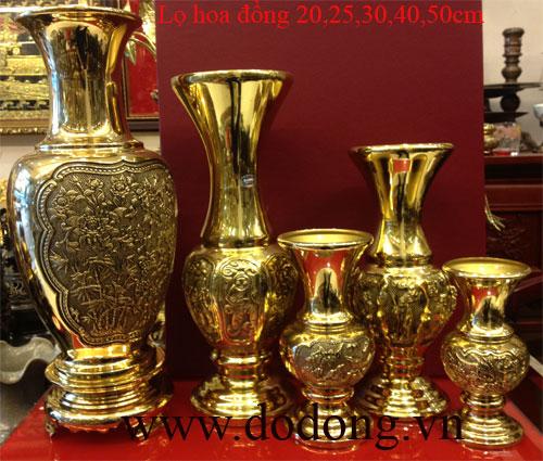 các mẫu lọ hoa bằng đồng vàng sáng bày bàn thờ,phòng khách,đồ trang trí cao cấp