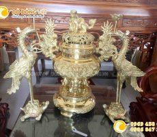 Lư đồng Dapha cao 70 cm cho ban thờ 1m97