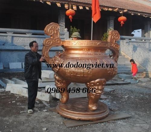 Lư đồng cỡ lớn trang trí đình chùa,đền thờ liệt sỹ,nghĩa trang trường sơn