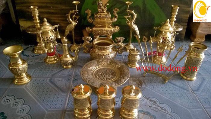 Xu hướng lựa chọn đồ thờ bằng đồng mạ vàng năm 2017
