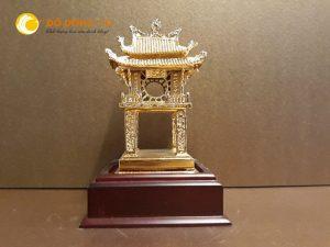 Mô hình Khuê Văn Các bằng đồng mạ vàng 24k