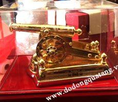 Súng thần công đồng mạ vàng 30cm khắc đẹp