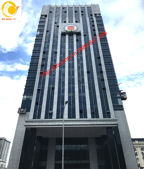 Thi công đúc đồng logo kiểm toán dk 6m, lắp đặt hoàn thiện trên tòa nhà0