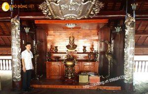 Phòng thờ Quốc tổ hùng vương,trang trí bàn thờ Vua hùng