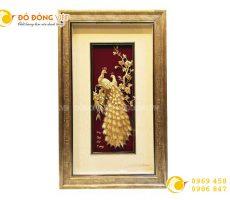 Tranh phú quý cát tường bằng vàng 24k