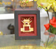 Tranh vàng Khuê Văn Các- quà tặng độc đáo cho khách nước ngoài