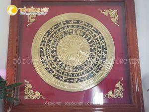 Tranh trống đồng Đông Sơn gò thủ công KT 1m5