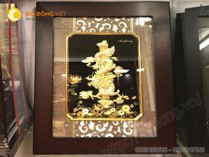 Tranh rồng phong thủy dát vàng 3d làm quà tặng