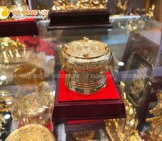 Trống đồng mạ vàng DK 7 cm