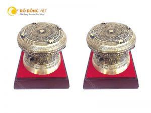 Quà tặng trống đồng đúc thu nhỏ đẹp tinh xảo kích thước 12 cm