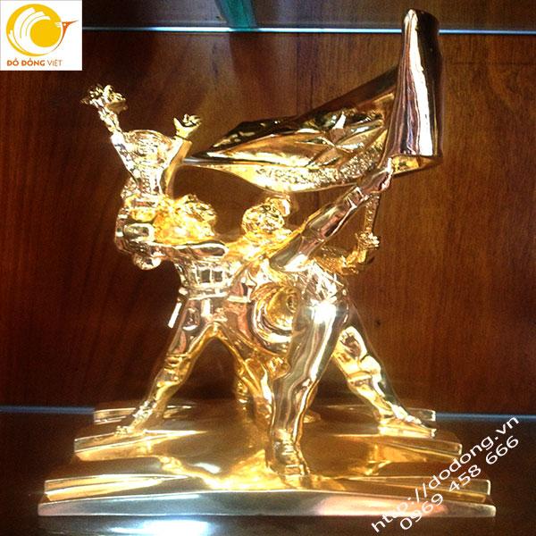 Tượng đồng chiến thắng điện biên phủ 30cm mạ vàng0